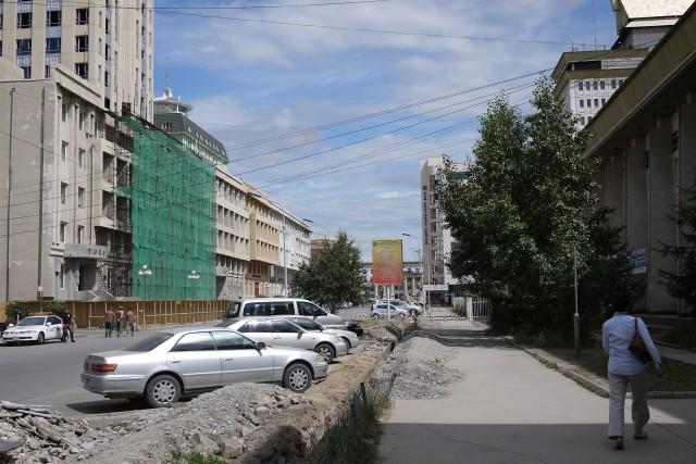 La rue perpendiculaire à Sukbaatar square