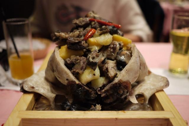 Tête de mouton mongole