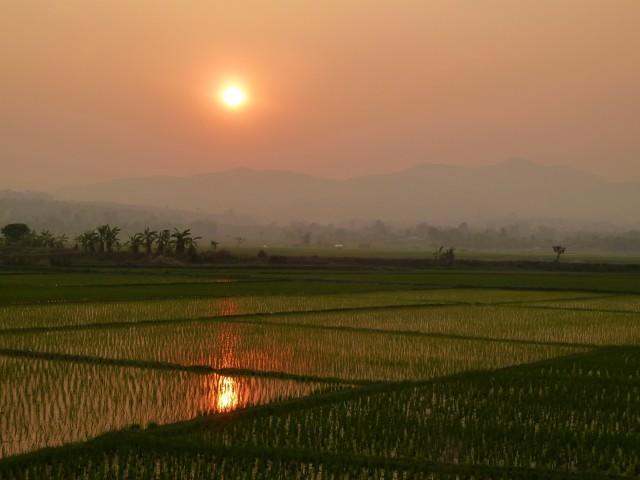 coucher soleil route chiang rai