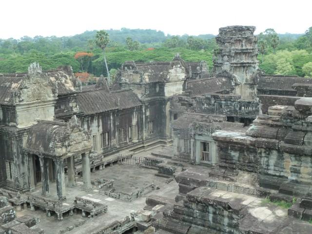 Ça c'est Angkor Wat. Enfin un bout.