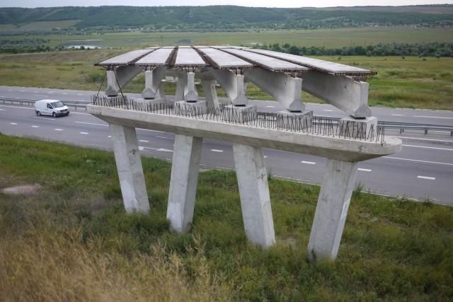 Un des nombreux ponts à l'abandon du communisme ukrainien