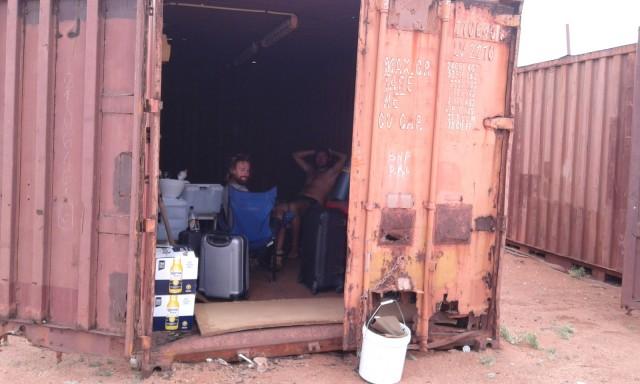 Container aménagé pour le cyclone