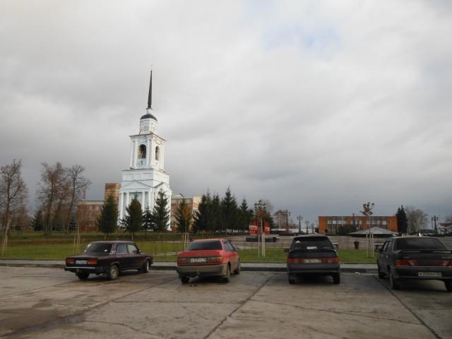 Sevsk et la poste de police en arrière plan